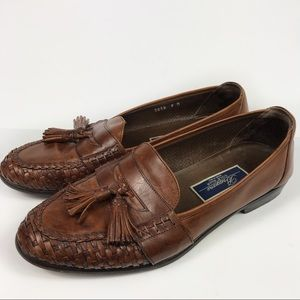 Cole Haan Bragano Leather Woven Tassel Loafers 9M